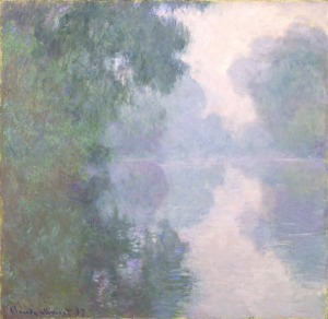 Title: The Seine at Giverny, Morning Mists Date: 1897 Artist: Claude Monet Dimensions: 35 x 36 in. (88.9 x 91.4 cm) Medium: Oil on canvas
