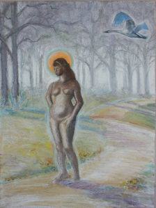 "Oil Pastel on Paper 18"" x 24""  $300"
